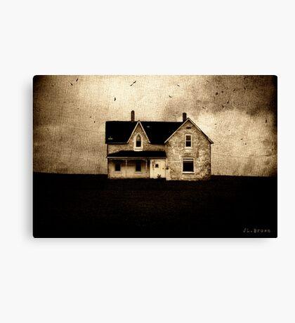 SINISTER . HOUSE Canvas Print