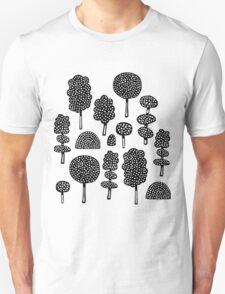 Arboretum 230715 - Black on White T-Shirt