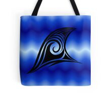 Tribal Art Shark Fin  Tote Bag
