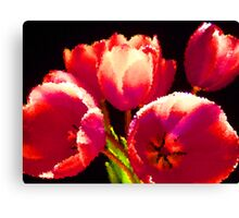 Painting Tulips. Canvas Print