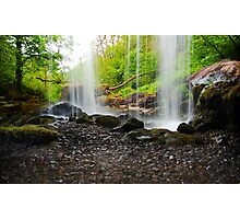 Behind The Waterfall Photographic Print