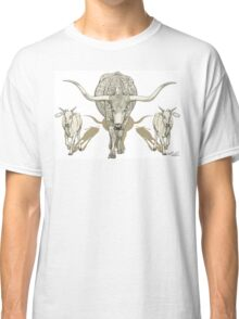 Momma Longhorn & Babies Classic T-Shirt