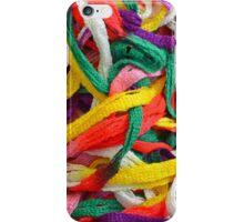 Colorful yarn pattern iPhone Case/Skin