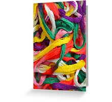 Colorful yarn pattern Greeting Card
