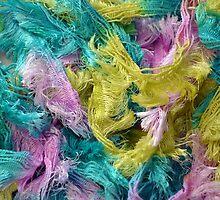 Colorful yarn pattern by perlphoto