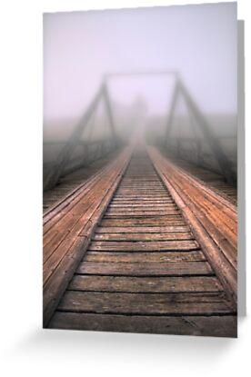 Bridge to fog by Veikko  Suikkanen