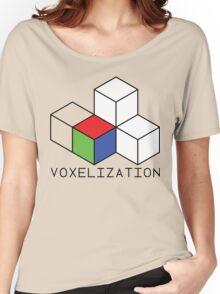 Pixel 3D Voxelization Nerd Computer Graphic Render Women's Relaxed Fit T-Shirt