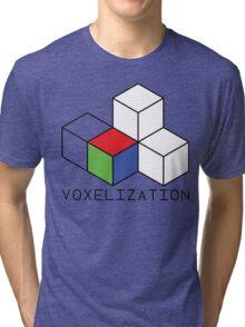 Pixel 3D Voxelization Nerd Computer Graphic Render Tri-blend T-Shirt