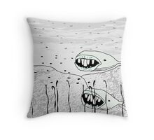 long toothed miniature whales Throw Pillow
