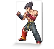 Jin Kazama Greeting Card