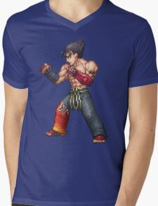 Jin Kazama Mens V-Neck T-Shirt