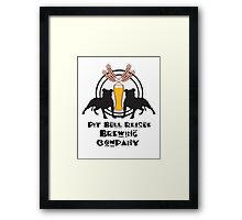 Pit Bull Rescue Brewing Company Framed Print
