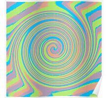 Green and pink circles design Poster