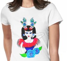 tattoo antlers and roses  Womens Fitted T-Shirt