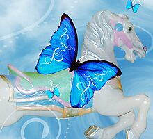 Butterfly Carousel Horse by PhOtOgaljan