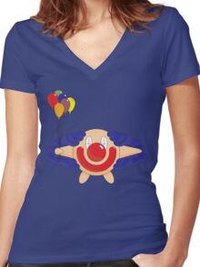 Happy Clown Women's Fitted V-Neck T-Shirt