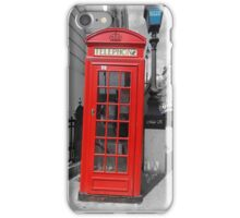 London Telephone Box. iPhone Case/Skin