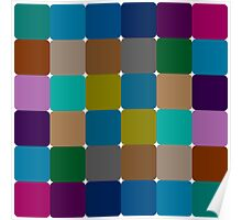 Colorful squares pattern Poster