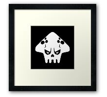 Splatoon skull Framed Print