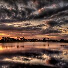 Sundusk over Punta Gorda, FL by LudaNayvelt