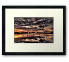 Sundusk over Punta Gorda, FL Framed Print