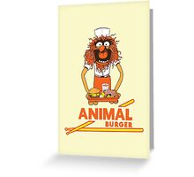 Animal Burger Greeting Card