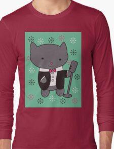 Lounge Singer Cat Long Sleeve T-Shirt