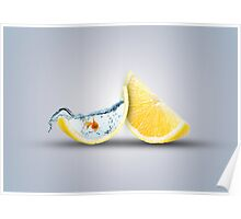 Lemon Fish Tank  Poster