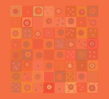 Orange Squares and Dots by Betty Mackey