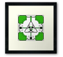 Anti-Companion Cubes - Biohazard Framed Print