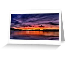 Sun dusk over Boston College  Greeting Card