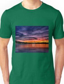 Sun dusk over Boston College  Unisex T-Shirt