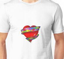 Puzzle ribbon heart Unisex T-Shirt