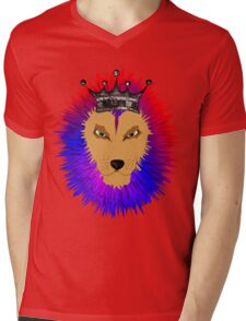 Cool Jungle king Lions Head Mens V-Neck T-Shirt