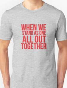 When we... Quote Square T-Shirt