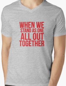 When we... Quote Square Mens V-Neck T-Shirt