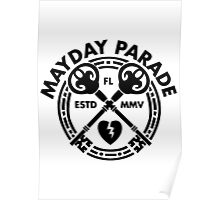 Mayday Parade Key (Dark) Poster