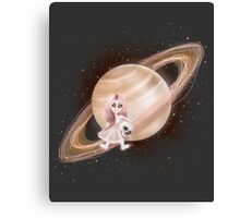 Lost in a Space / Saturnesse Canvas Print