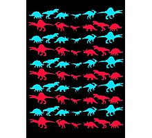 Dinosaur World Red and Blue Photographic Print
