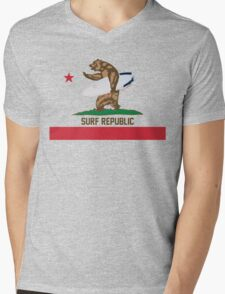 Surf Republic Mens V-Neck T-Shirt
