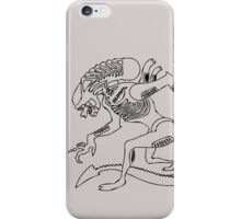 Xenomorph Sketch-black & grey iPhone Case/Skin