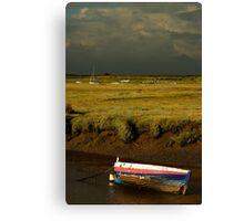 Storm Approaching Blakeney Quay, Norfolk. Canvas Print