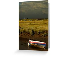 Storm Approaching Blakeney Quay, Norfolk. Greeting Card