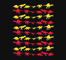 Dinosaur World Red and Yellow Unisex T-Shirt