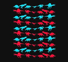 Dinosaur World Red and Blue Unisex T-Shirt