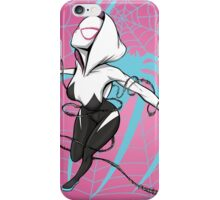 Spider-Gwen with Pink Background iPhone Case/Skin