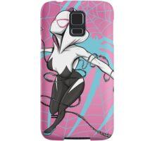 Spider-Gwen with Pink Background Samsung Galaxy Case/Skin