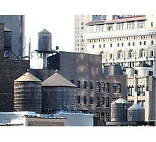 Old Water Towers in Manhattan Photographic Print