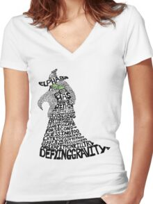 WICKED Musical Elphaba Women's Fitted V-Neck T-Shirt