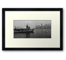 misty water front Framed Print
